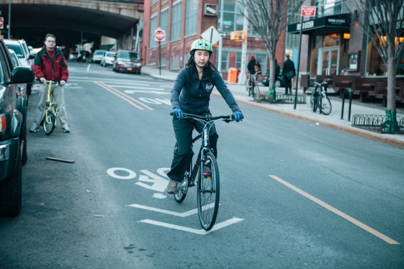 That's me in a bike lane! -PattyChangAnker.com