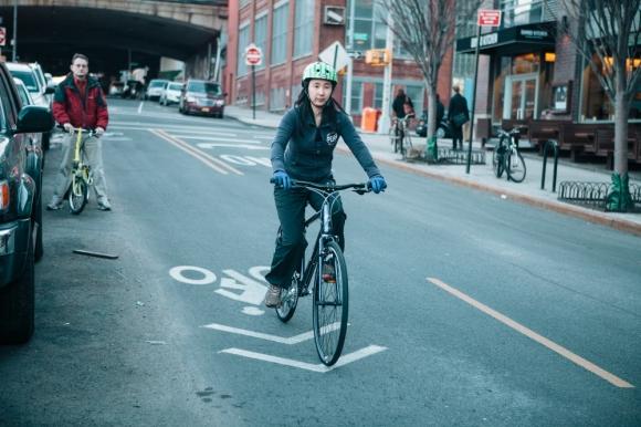 That's me in a bike lane! -PattyChangAnker.com